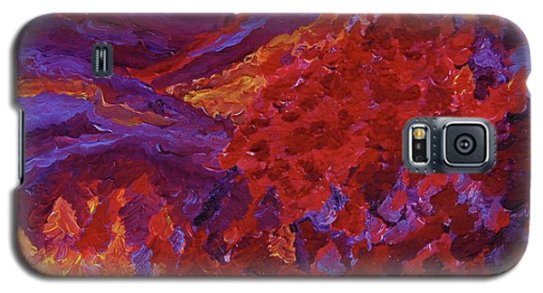 Galaxy S5 Case featuring the painting Forest Fantasy By Jrr by First Star Art