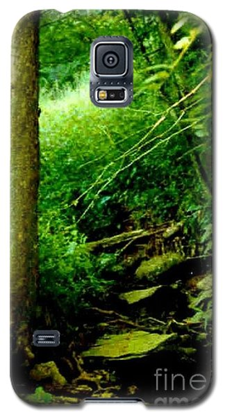 Galaxy S5 Case featuring the photograph Forest Green by Michael Hoard