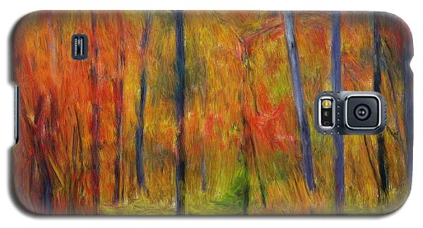 Galaxy S5 Case featuring the painting Forest In The Fall by Bruce Nutting