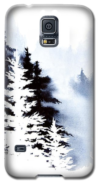 Galaxy S5 Case featuring the painting Forest Indigo by Teresa Ascone