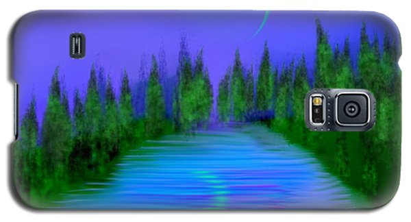 Forest Lake. Night. Galaxy S5 Case by Dr Loifer Vladimir