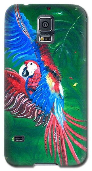 Galaxy S5 Case featuring the painting Forest Landing by Phyllis Kaltenbach