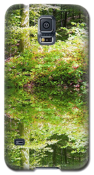 Galaxy S5 Case featuring the photograph Forest Reflections by John Stuart Webbstock