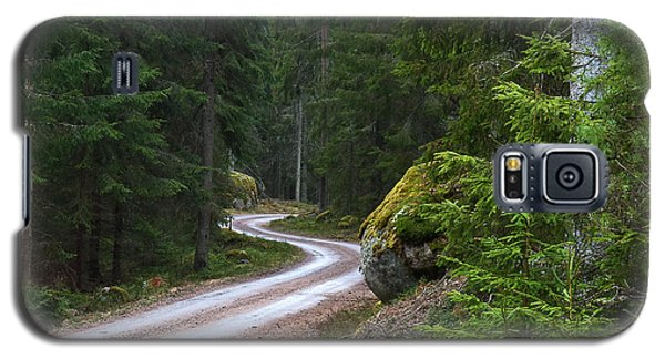 Galaxy S5 Case featuring the photograph Forest Road by Kennerth and Birgitta Kullman