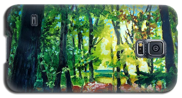 Galaxy S5 Case featuring the painting Forest Scene 1 by Kathy Braud