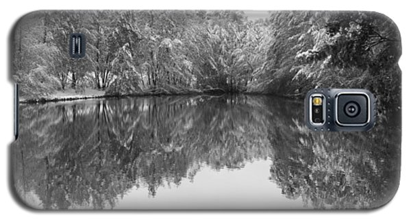 Galaxy S5 Case featuring the photograph Forest Snow by Miguel Winterpacht