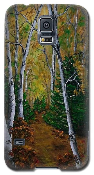 Birch Tree Forest Trail  Galaxy S5 Case