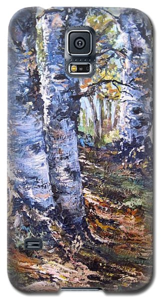 Galaxy S5 Case featuring the painting Forest Walk by Megan Walsh