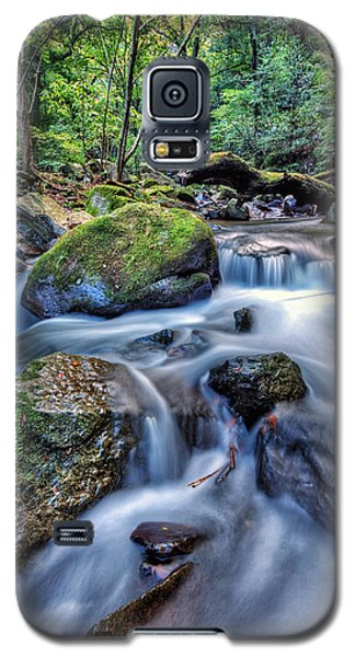 Galaxy S5 Case featuring the photograph Forest Waterfall by John Swartz