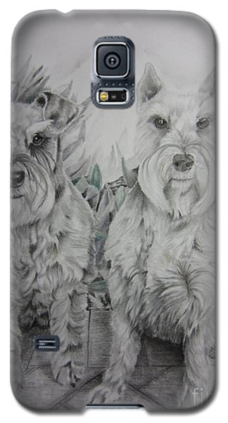 Galaxy S5 Case featuring the drawing Forever Friends by Laurianna Taylor