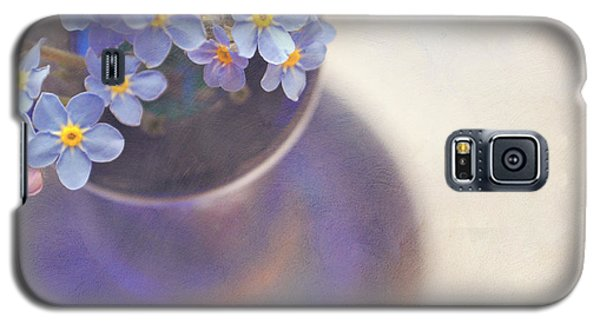 Forget Me Nots In Blue Vase Galaxy S5 Case