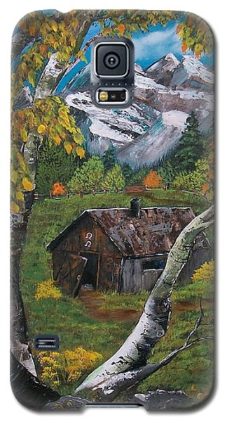 Galaxy S5 Case featuring the painting Forgotten Cabin  by Sharon Duguay
