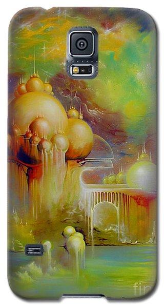 Galaxy S5 Case featuring the painting Forgotten City by Alexa Szlavics