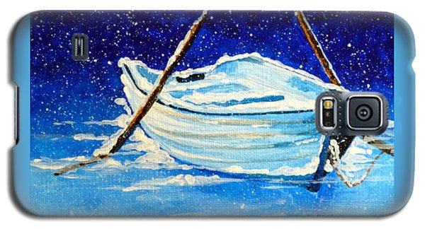 Galaxy S5 Case featuring the painting Forgotten Rowboat by Jackie Carpenter