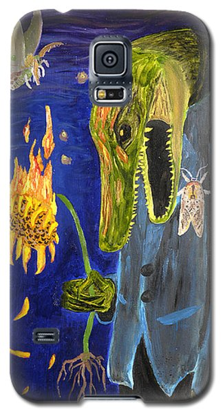 Galaxy S5 Case featuring the painting Forlorn Disideratum by Christophe Ennis