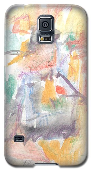 Galaxy S5 Case featuring the painting Formal Signature by Esther Newman-Cohen