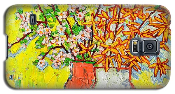 Forsythia And Cherry Blossoms Spring Flowers Galaxy S5 Case