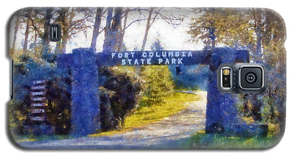 Galaxy S5 Case featuring the digital art Fort Columbia Entrance by Kaylee Mason