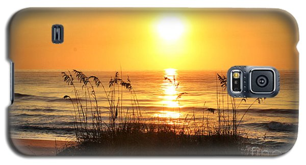 Galaxy S5 Case featuring the photograph Fort Fisher September Sunrise by Phil Mancuso