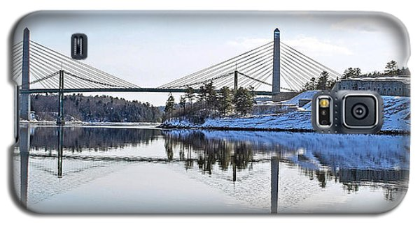 Fort Knox And Bridges Reflection In Winter Galaxy S5 Case by Barbara West