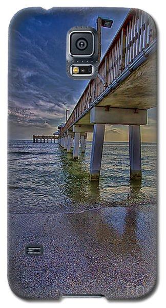 Fort Myers Beach Pier Galaxy S5 Case by Anne Rodkin