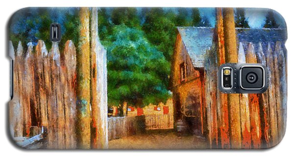 Galaxy S5 Case featuring the digital art Fort Nisqually Entrance by Kaylee Mason