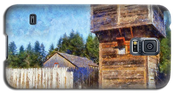 Galaxy S5 Case featuring the digital art Fort Nisqually Tower by Kaylee Mason