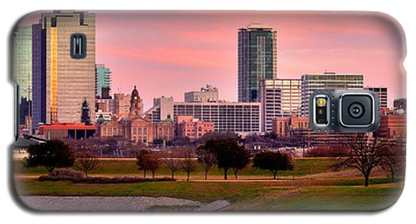 Fort Worth Skyline At Dusk Evening Color Evening Panorama Ft Worth Texas  Galaxy S5 Case