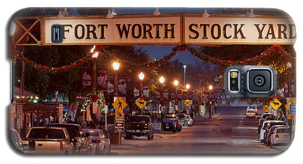 Fort Worth Stock Yards Night Galaxy S5 Case