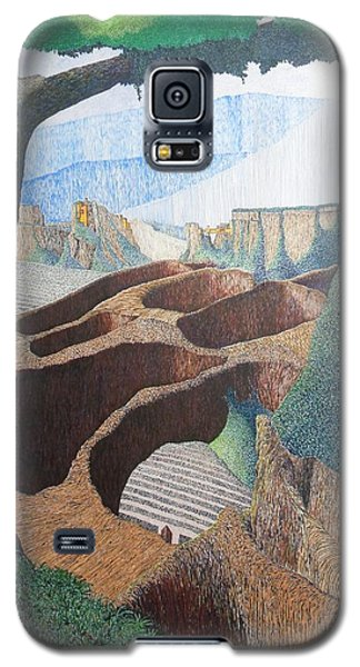 Galaxy S5 Case featuring the painting Forte Rest by A  Robert Malcom