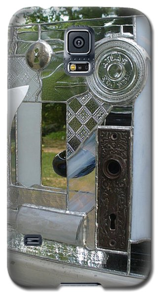 Galaxy S5 Case featuring the glass art Found Objects  by Karin Thue