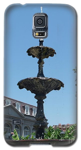 Galaxy S5 Case featuring the painting Fountain  by Robin Maria Pedrero