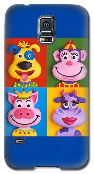 Four Animal Faces Galaxy S5 Case