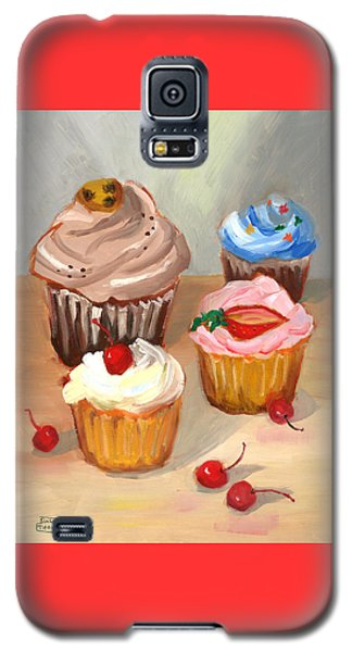 Four Cupcakes Galaxy S5 Case by Susan Thomas