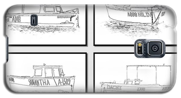 Four Fishing Boats Of Aruba Galaxy S5 Case