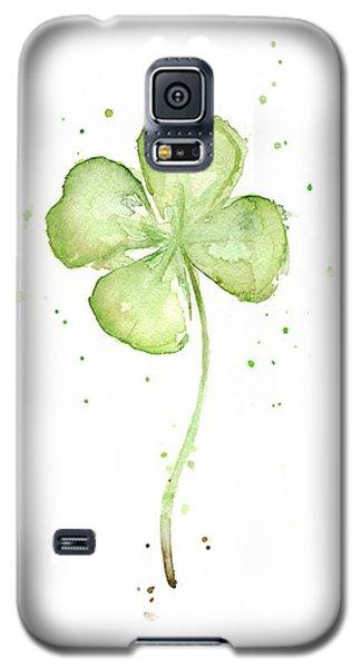 Four Leaf Clover Lucky Charm Galaxy S5 Case by Olga Shvartsur