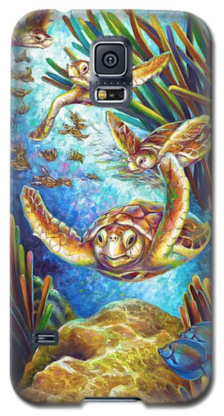Four Loggerhead Turtles Galaxy S5 Case