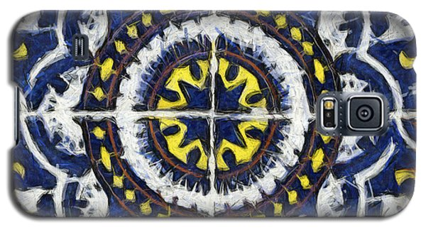 Four Painted Tiles-mexico Galaxy S5 Case by Michael Flood