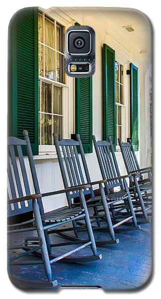 Four Porch Rockers Galaxy S5 Case by Perry Webster