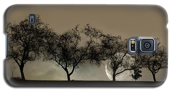 Four Trees And A Moon Galaxy S5 Case