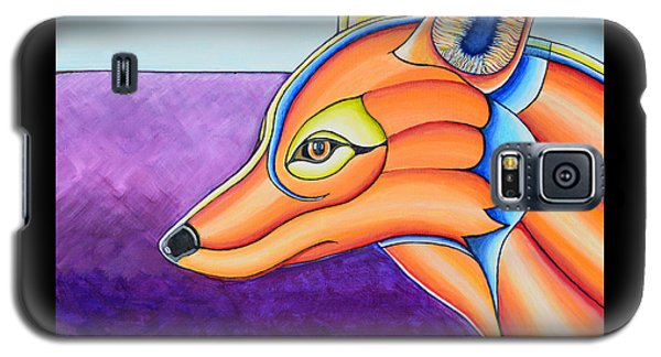 Galaxy S5 Case featuring the painting Fox 1 by Joseph J Stevens