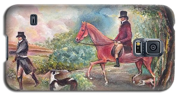Galaxy S5 Case featuring the painting Fox Hunting by Egidio Graziani
