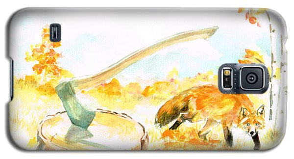 Fox In Autumn Galaxy S5 Case
