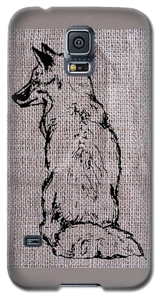 Fox On Burlap  Galaxy S5 Case