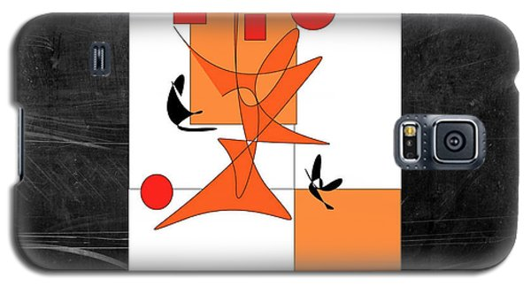Galaxy S5 Case featuring the digital art Foxes Have Holes by Karo Evans
