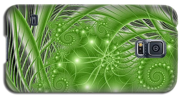 Fractal Abstract Green Nature Galaxy S5 Case by Gabiw Art