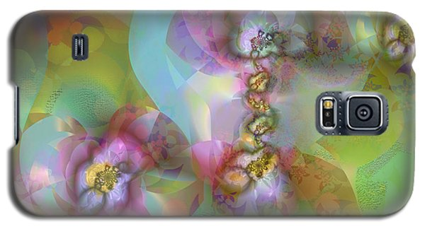 Fractal Blossoms Galaxy S5 Case by Ursula Freer