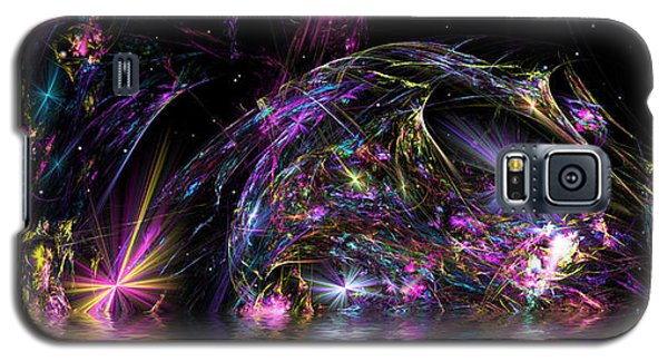 Galaxy S5 Case featuring the digital art Fractal Explosions by Mario Carini