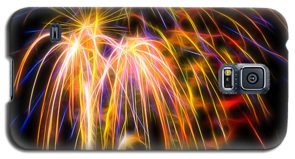 Galaxy S5 Case featuring the photograph Colorful Fractal Fireworks #1 by Yulia Kazansky