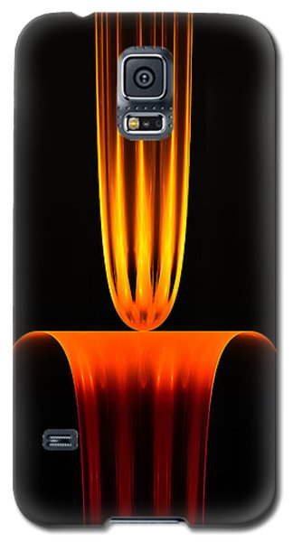 Galaxy S5 Case featuring the digital art Fractal Flame by GJ Blackman
